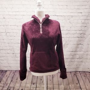 North Face women's burgundy pullover Small
